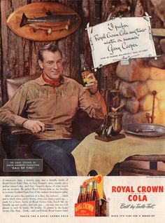 Gary Cooper, Royal Crown Cola, 1941