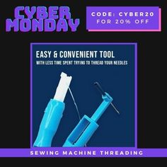 Easy Sewing Machine Needle is a double function needle threader that can insert the needle into sewing machine and threading into the needle.