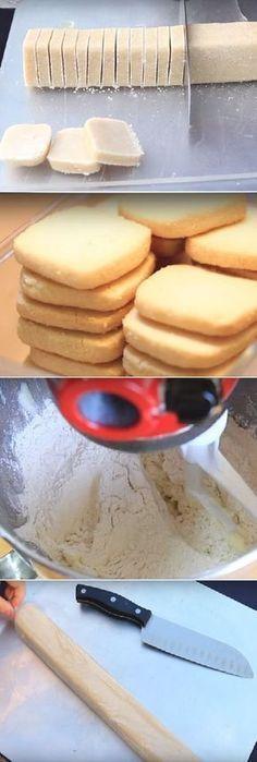 the easy way to make square cookies Sweet Cookies, Cookies Et Biscuits, Cupcake Cookies, Sugar Cookies, Cookie Recipes, Dessert Recipes, Pan Dulce, Mets, Tan Solo