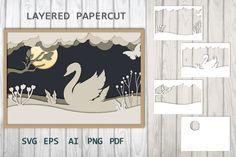 Shadow Light Box, Shadow Box, Paper Cut Design, Art Deco Wallpaper, Flower Template, Pattern And Decoration, Art Themes, Journal Cards, Paper Cutting