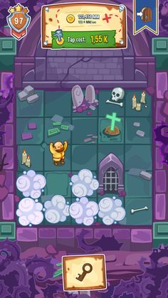 Tap tap kingdom minigame dungeon exploration. V Games, Cute Games, Board Games, Game Gui, Game Icon, Top Down Game, Vector Game, 2d Game Art, Darkest Dungeon
