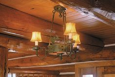 rustic pendant lighting | Rustic Sutter™ Three-Arm Chandelier (PA-463-E6-Rustic) lights a ...
