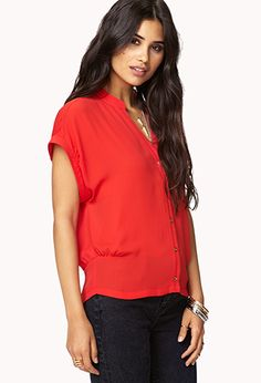 Essential Woven Shirt | FOREVER 21 - 2078972911