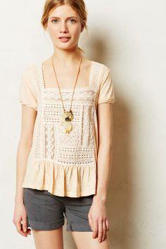 Anthropologie Garment-Dyed Peplum Tee on shopstyle.com