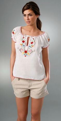 Embroidered peasant top #embroidered #peasant #blouse
