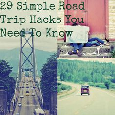 29 Simple Road Trip Hacks You Need To Know           --- Pin now read later.