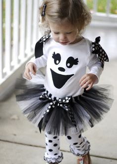 Ghost Halloween Tutu Costume--easy easy!