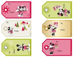 Free Disney Christmas Tags