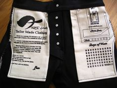 The pocket calendar to keep track of your wears is awesome! Hall of Fade collaboration with Artist Denim 21 oz. Japanese selvedge sanforized denim. 100% Zimbabwe cotton. Heavyweight Denim Championship