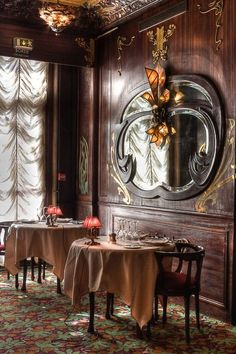 shabbyechiclife:  Chez Maxim's   - Paris       www.lagarconniere.itLa Garçonniere Bed and Breakfast de Charmein Salerno - Amalfi Coast