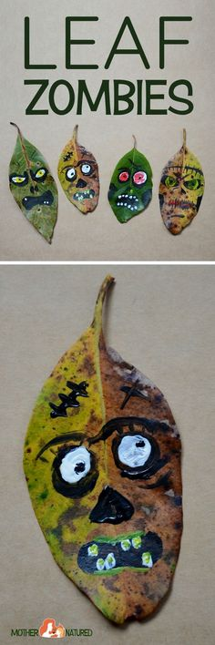 Leaf  Zombie Craft | Zombie Craft | Halloween Craft