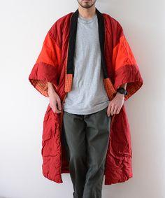 クレイジーパターンが素敵な1950年代頃のジャパンヴィンテージ丹前(褞袍)。Kimono Coatとしても大事にしていきたい日本固有の素晴らしい和服です。