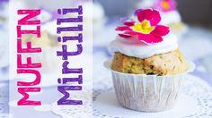 Muffin ai mirtilli vegan con frosting al cocco!
