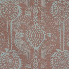 Blithfield's Beasties fabric in Coral - from their Peggy Angus Collection.