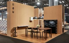 Brand identity and exhibition graphics by Design by Toko for Cult's new contemporary furniture range NAU