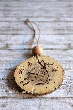 Wood Burned Christmas Ornaments 6