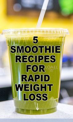 5 Weight Loss Smoothies for Rapid Weight Loss Best Smoothie Recipes, Weight Loss Smoothie Recipes, Good Smoothies, Weight Loss Drinks, Fruit Smoothies, Smoothie Cleanse, Smoothie Drinks, Diet Drinks, Juice Cleanse