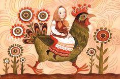 Сообщество иллюстраторов / Иллюстрации / Герасимова Дарья / На зелёном петухе
