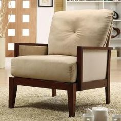 @Overstock - Complete your home decor with this poplar wood microfiber chair. This living room furniture features high-density foam fill. This accent chair showcases tapered legs, upholstered in delicate brown microfiber upholstery.http://www.overstock.com/Home-Garden/Caney-Brown-Microfiber-Accent-Chair/5274784/product.html?CID=214117 $178.99