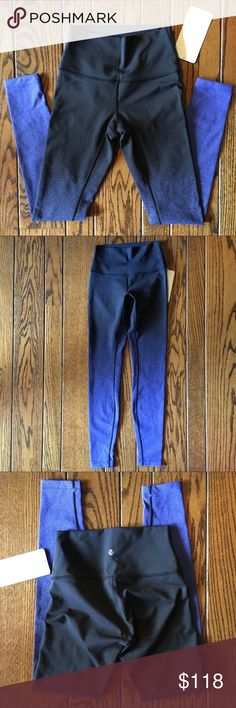 """NWT *RARE* Lululemon Wunder Under HighRise Legging Black and blue patterned lululemon wunder under HR tights that were designed to fit like a second skin-perfect for yoga or the gym. The Full-on Luon fabric is soft, sweat-licking, and has a four-way Stretch. Super cute lululemon pattern! Waist band pocket holds your key or card. Waistband lies flat against your skin. Size 4. 79% nylon, 21% elastane.  Rise: 8.5"""" Inseam: 27"""" Waist Flat: 11"""" Ankle width: 3.75""""  No trades please, offers welcome…"""