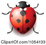 Watercolor ladybugs | ... ) Clipart of Heart Shaped Ladybugs, Illustrations, Vector Graphics #1