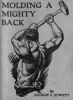 molding a mighty back vintage bodybuilding pamphlet george jowett