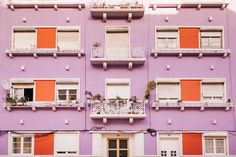 TRAVEL TO LISBON * Purple Red Travel Photo Architecture Lisbon Lisbon by hellotwiggs
