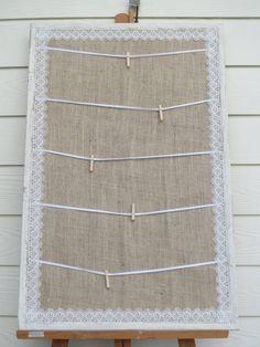 Wedding Escort Card Board, Wedding Picture Display or Inspiration Board. $55.00, via Etsy.