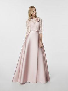 Foto vestido de fiesta rosa palico (62053)