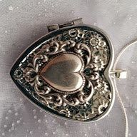 Silver plated Heart Music Box Locket with by VanityJewelBox