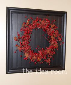 Love this wreath frame!  Just change out the wreath for the occasion or decor...Keep the frame.
