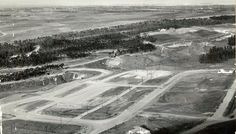 Malaga Cove Plaza of PVE before it was built c 1920's. That is Torrance in background.