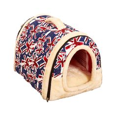ZHANGU Blue Dog houses, British flag decorative lines - size 13.78Inch - 23.62Inch >>> Remarkable product available now. : Dog house