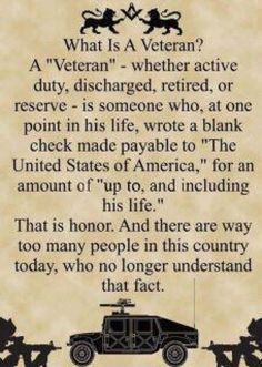 It is Veterans Day that we remember those who have served in the military & fought for our country's freedom. Description from pinterest.com. I searched for this on bing.com/images Military Spouse, Military Veterans, Military Life, Military Quotes, Military Humor, Military Service, Military Families, Military Pictures, Military Personnel