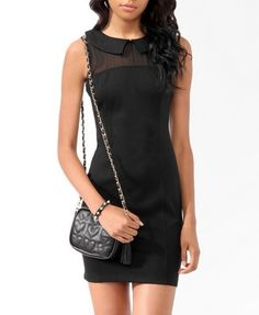 Awesome Wedding Cocktail Dresses Collared Bodycon Dress $19.80 www.forever21.com......