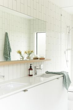 Bower Architecture - Bathroom at Bellarine Beach House - restained palette