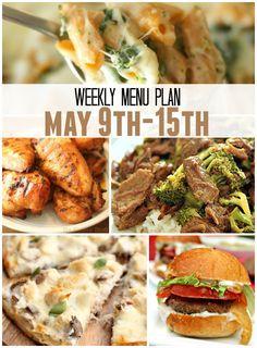 Weekly Menu Plan May 9th-15th