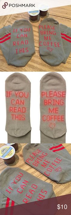 78bca830fe706 New Bring Me Coffee novelty gift socks