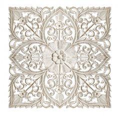There is no end to the ways in which you can use these intricately carved wooden wall panels to add pattern and texture to your home. Wood Carving Patterns, Carving Designs, Wall Panel Design, Carved Wood Wall Art, Wooden Wall Panels, Moroccan Design, Decorative Panels, Ceiling Decor, Fashion Room