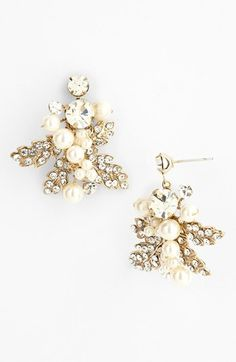 Nina Pearl Cluster Drop Earrings - Nordstrom (they match my hair piece well)