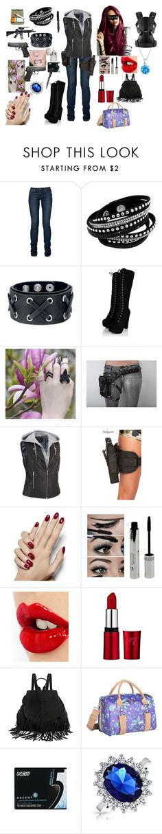 """being a bad ass mommy to little baby Hope (10k's future wife)"" by zeroznation ❤ liked on Polyvore featuring Holster, Black Rivet, George, Charlotte Tilbury, Po Campo, Wrigley's, Bling Jewelry and BabyBjörn"