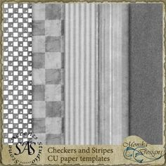 Checkers and Stripes paper templates - $3.15 : Digital Scrapbooking Studio Paper Templates, Stripes Design, Digital Scrapbooking, Studio, Stone, Paper Models, Rock, Studios, Stones
