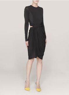Alexander Wang - Round-neck long-sleeve dress | Black Cocktail Dresses | Womenswear | Lane Crawford - Shop Designer Brands Online