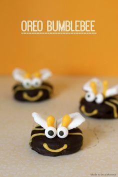 birthday parties, cookie ideas, bumble bees, oreo bumblebee, kid parties