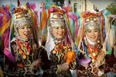Turkish Girls in Their Traditional Costumes