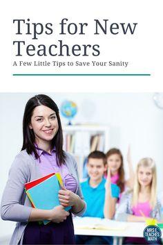 Tips For New Teachers - Save Your Sanity!  mrseteachesmath.b...