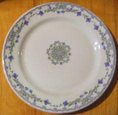 Vintage Shanango Pottery Lavenders and Blues Floral by parkledge, $15.00