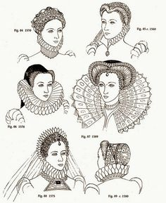 Elizabethan Hair Styles for the court were led by Queen Elizabeth. Upper class fashion, which included hairstyles, was highly elaborate - and necessary to achieve attention and success at court. It was referred to as the Peacock age as the Upper class Elizabethan men were often more elaborately dressed than the women and their hair and beards received a similar amount of attention!
