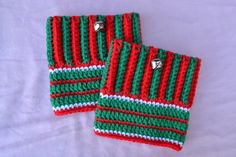 These Boot Cuffs Are A Combination Of Fashion Trend And Holiday Spirit. Very Cute To Ring In - Or Jingle In - The Season. The Boot Cuffs Are Made From Vegan Friendly Acrylic Yarns That Can Be Machine