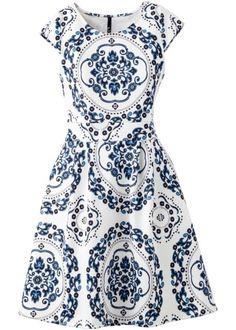 Šaty, BODYFLIRT boutique, modro-bílá